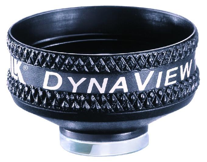 Volk indirektes vitreo Kontaktglas Dyna View 156 schwarz / Gravur möglich