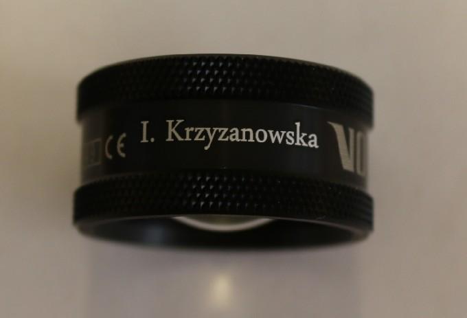 Volk 78D Lupe - schwarz  mit Gravur: I. Krzyzanowska