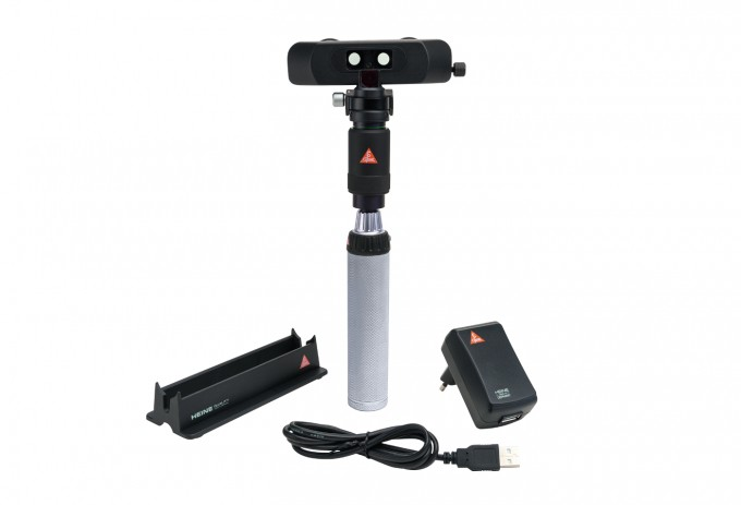 HEINE Indirektes Hand-Ophthalmoskop BINOKULAR mit BETA4 USB Griff