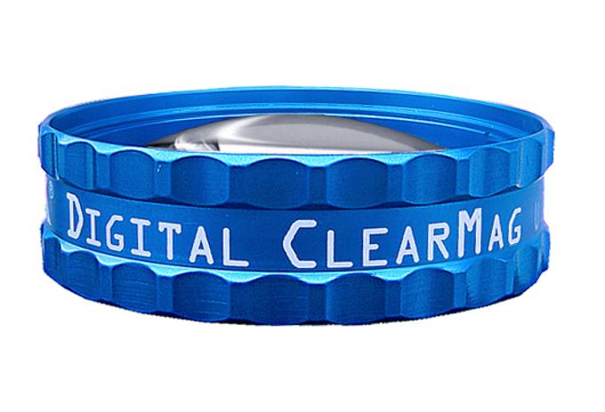 Volk Digital Clear Mag BIO Lupe - blau / individuelle Gravur möglich