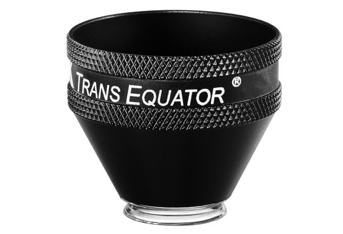 Volk Transequator indirektes Kontaktglas -schwarz/  individuelle Gravur möglich