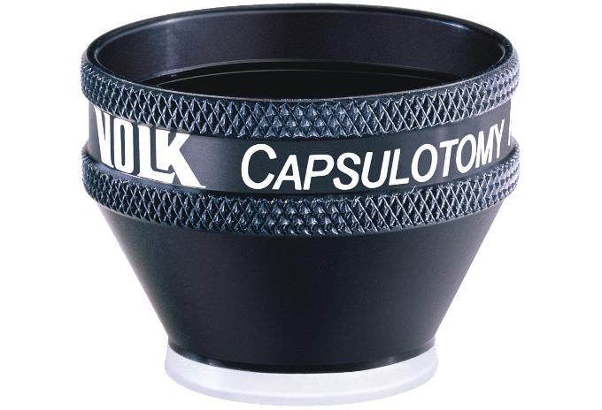 Volk Kapsulotomie Lupe - schwarz/ individuelle Gravur möglich