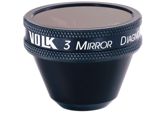 Volk 3 Spiegel Kontaktglas Standard - schwarz/ indivivduelle Gravur möglich